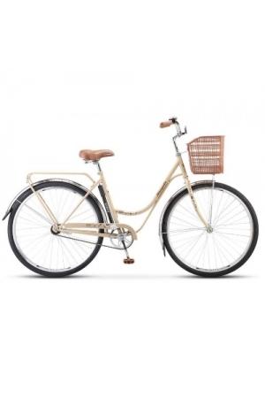 """Велосипед Stels Navigator 28"""" 325 Lady Z010 (с корзиной) Бежевый/Коричневый"""